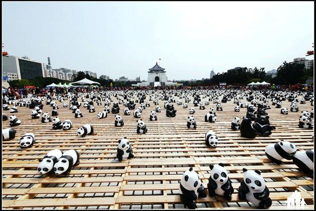 台北-兩廳院廣場【1600貓熊世界之旅】為瀕危保育動物發聲~